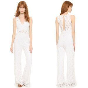 Nightcap Carisa Rene Heidi Jumpsuit Lace White S